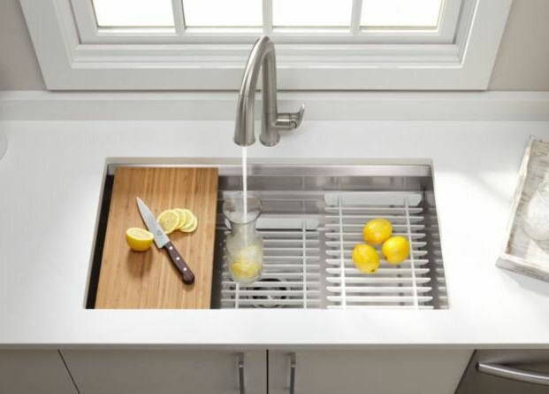 "Kitchen Sink Hole Accessories kohler prolific 33"" x 17-3/4"" x 11"" undermount single bowl kitchen"