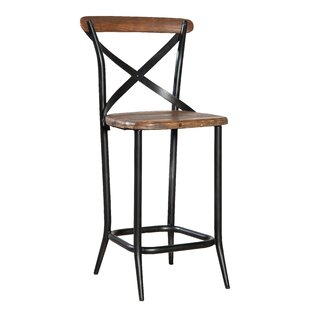 Metal Cross Patio Bar Stool
