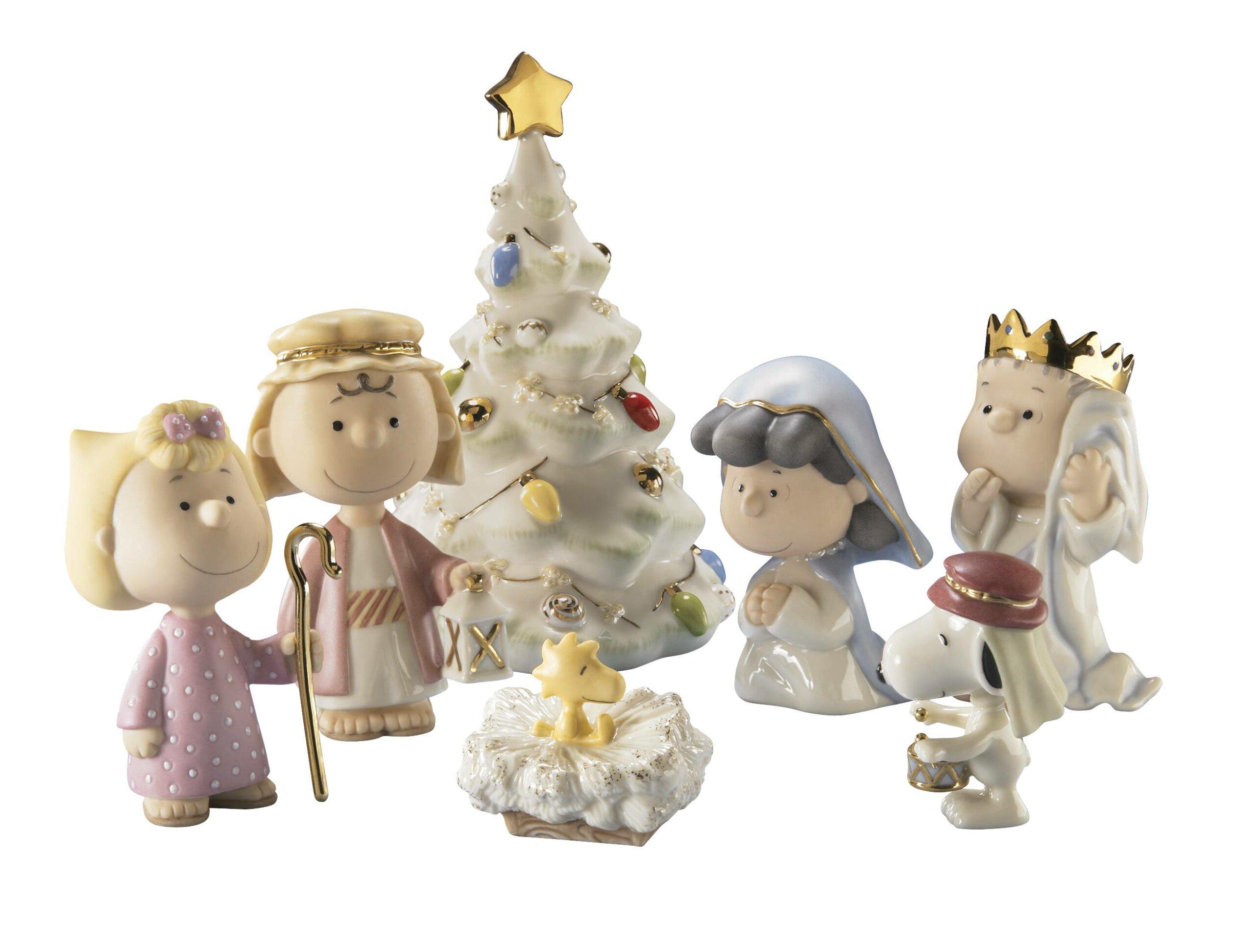 Peanuts Figures Christmas 2020 Set Lenox Peanuts the Christmas Pageant Figurine Set by Lenox