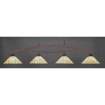 Astoria Grand Austinburg 3 Light Pool Table Linear Pendant