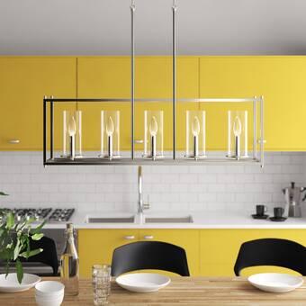 Mistana Ferris 6 Light Kitchen Island Linear Pendant Reviews Wayfair