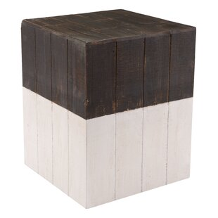 Abbey Wooden Square Accent Stool