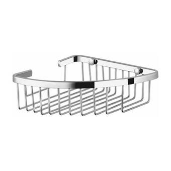 93a1b14548 Orren Ellis Coronado Corner Wall Mounted Wire Shower Basket | Wayfair