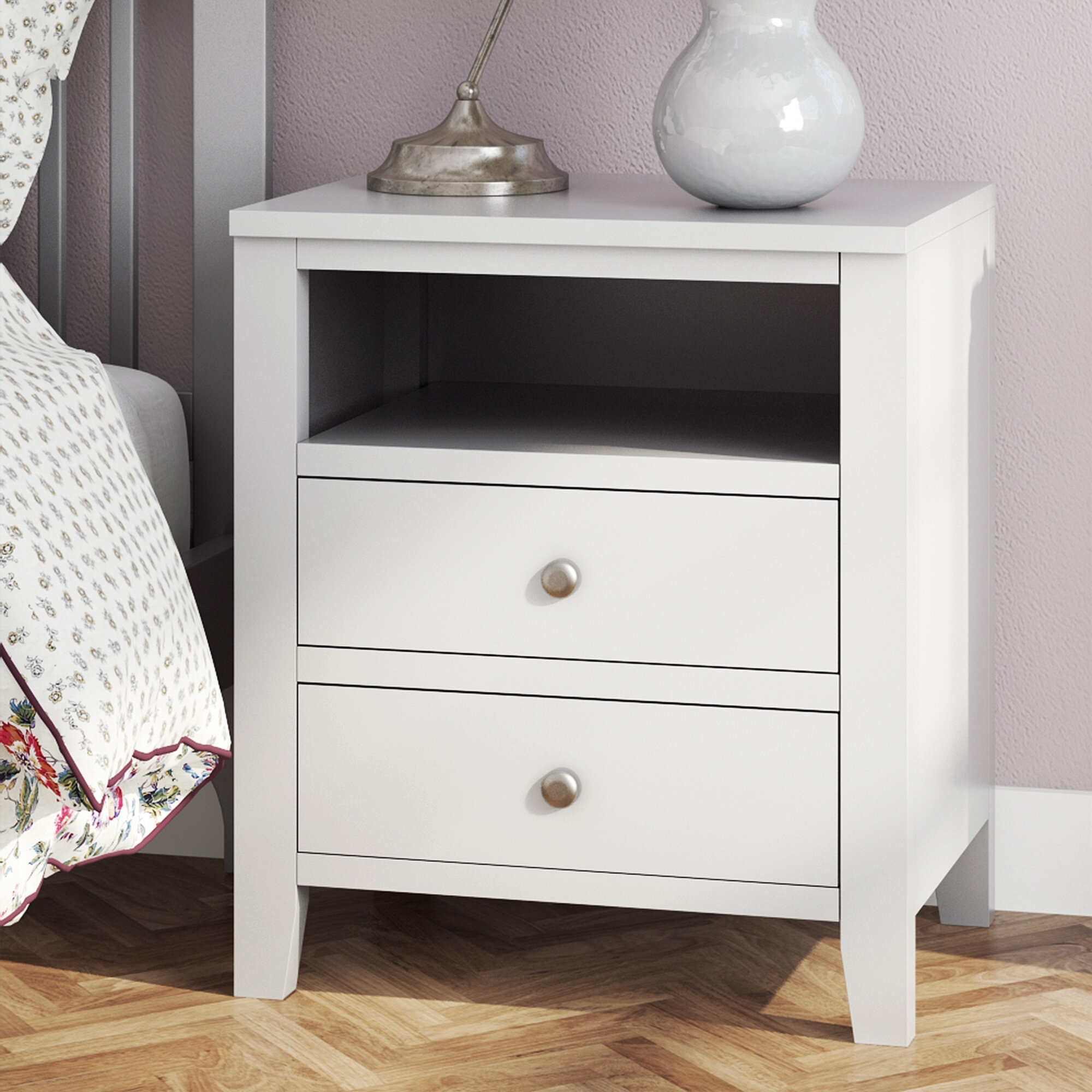 furniture home white drawers wood cherry co bedside cabinet kitchen tree amazon dp uk table