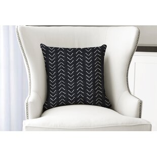 Mudcloth Big Arrows Cotton Throw Pillow