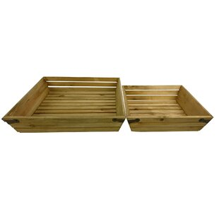 Purchase 2 Piece Wood Crate Set By Charlton Home