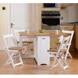 4 Chair Dining Sets august grove southcase folding dining set with 4 chairs & reviews