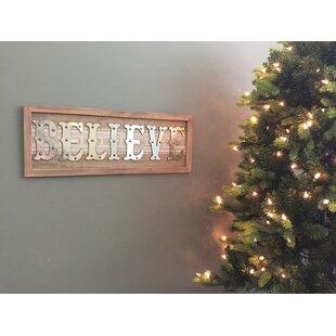 Believe Wooden Christmas Wall Decor