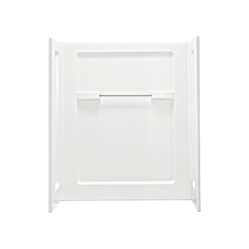 """Advantage 35.25"""" x 48"""" x 55.25"""" Seated Shower End Wall"""