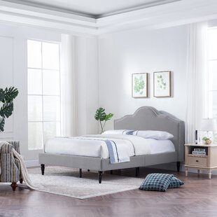 Leverette Fabric Queen Upholstered Panel Bed by House of Hampton