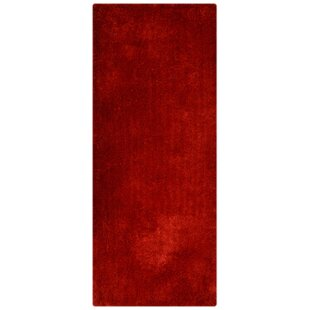 Henricks Hand-Tufted Red Area Rug by Latitude Run