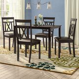 Whitbey Modern and Contemporary 5 Piece Breakfast Nook Dining Set by Red Barrel Studio®