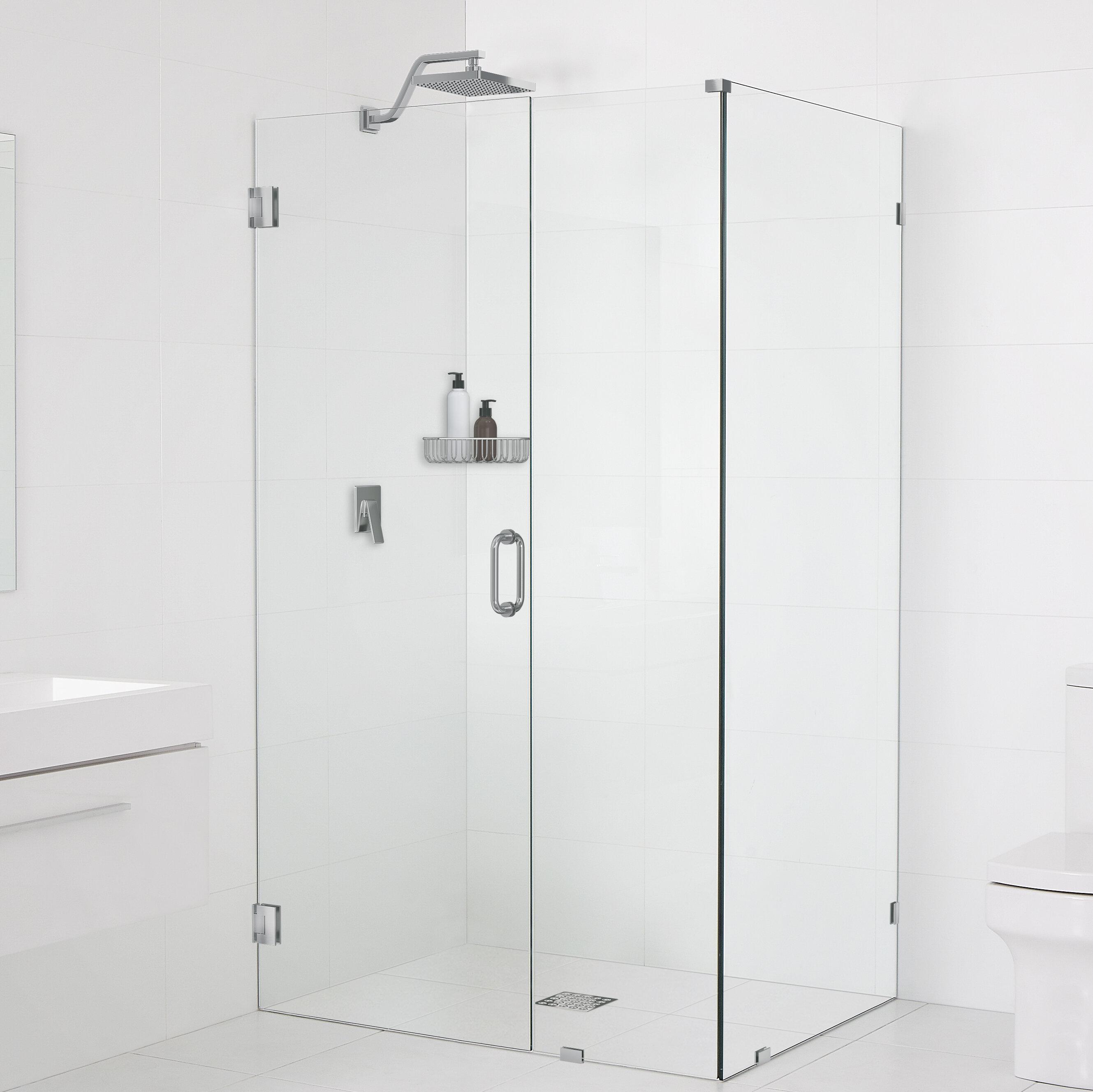 Glass Warehouse 46 5 X 78 Hinged Frameless Shower Door Wayfair