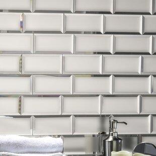 Echo 3 X 6 Matte Mirror Gl Field Tile In Silver