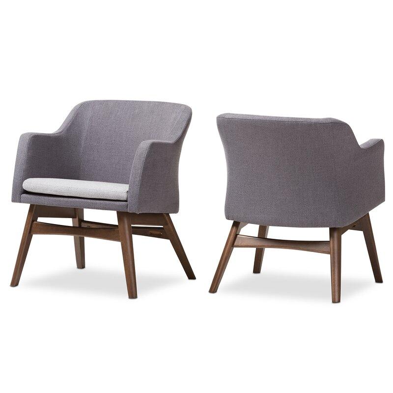 Victoria Mid Century Modern Fabric Armchair