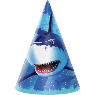 Shark Splash Hat Paper Disposable Party Favor (Set of 24)