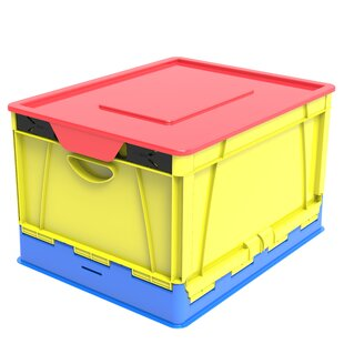 Folding Storage 4 Piece Cube Set with Lid by Rebrilliant