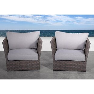 Azriel Patio Chair with Cushions (Set of 2)