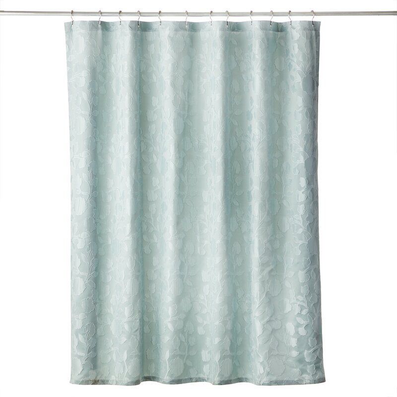 House Of Hampton Albia Floral Single Shower Curtain Wayfair