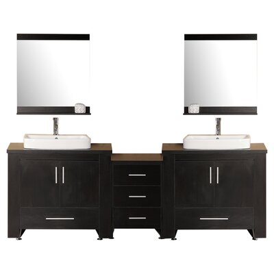 """Bathroom Vanities Lakeland Fl red barrel studio halcomb 92"""" double bathroom vanity set with"""
