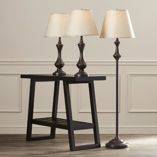 McDermott 3 Piece Table and Floor Lamp Set