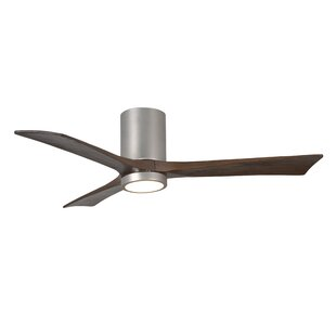 Compare prices 52 Rosalind 3 Blade Hugger Ceiling Fan with Wall Remote and Light Kit By Wade Logan