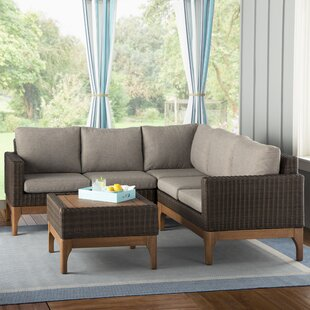 Tovar 2 Piece Sectional Seating Group with Cushions