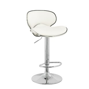 Brandon Adjustable Height Swivel Bar Stool (Set of 2) Wade Logan