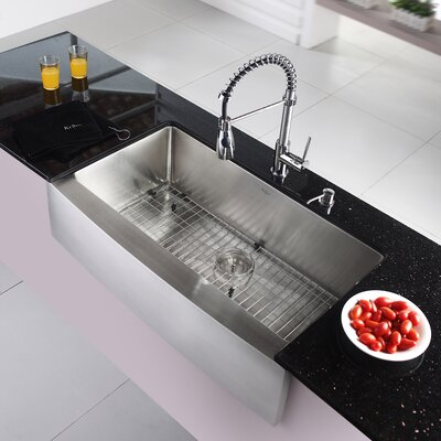 35 9 X 20 8 Farmhouse Kitchen Sink With Faucet And Soap Dispenser