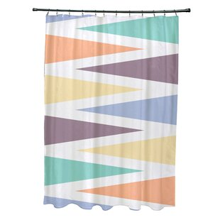 Boubacar Polyester Backgammon Geometric Single Shower Curtain