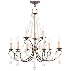 Devana 9-Light Crystal Chandelier