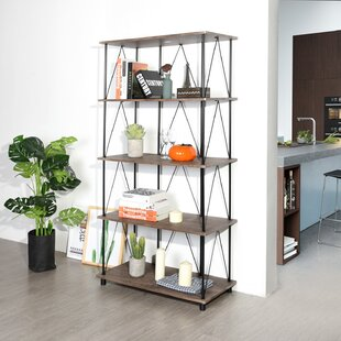 Axbridge 5 Tiers Wood Etagere Bookcase