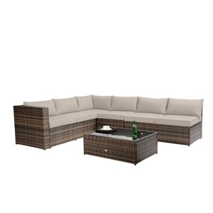 Fewell 5 Piece Sofa Set with C...