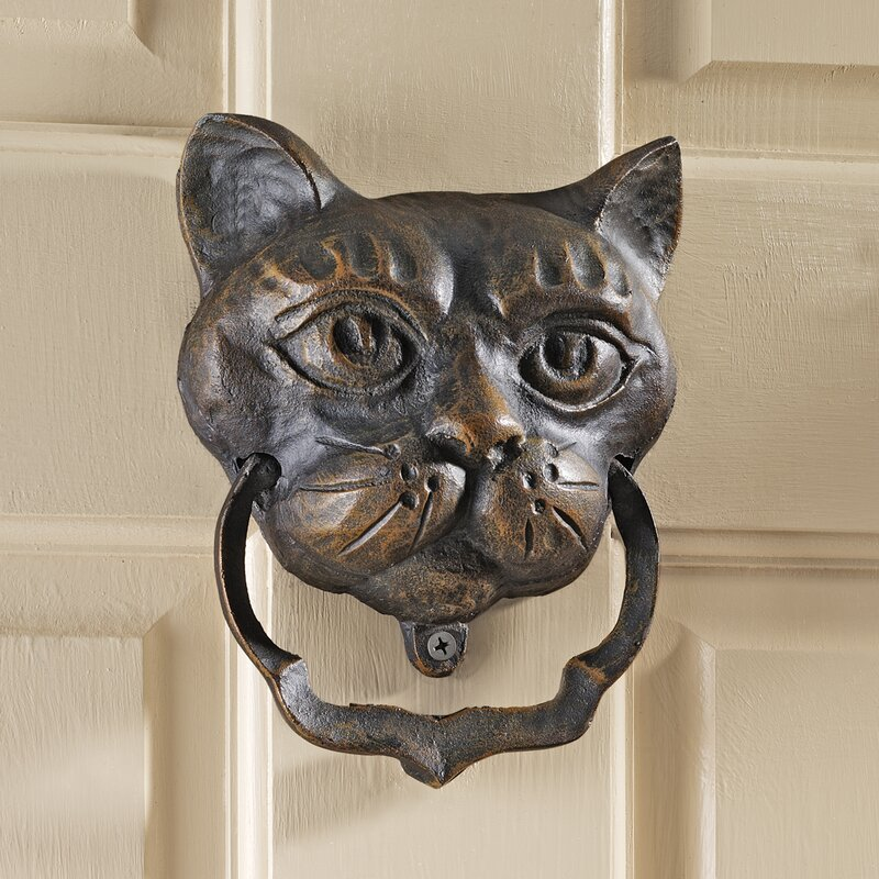 Black Cat Iron Door Knocker