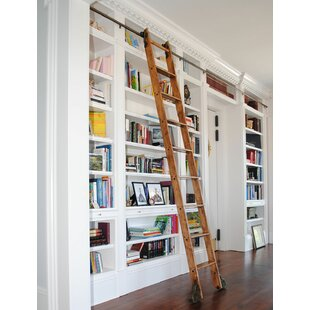 9 Ft Maple Standard Rolling Ladder With Rail Kit