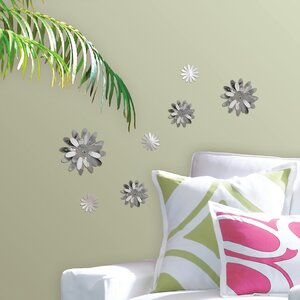 WallPops 3D Flowers Mirror Wall Decal