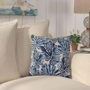 Thirlby Palm Leaves Outdoor Throw Pillow