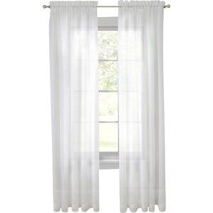 Awesome Alba Solid Sheer Rod Pocket Curtain Panels (Set Of 2)