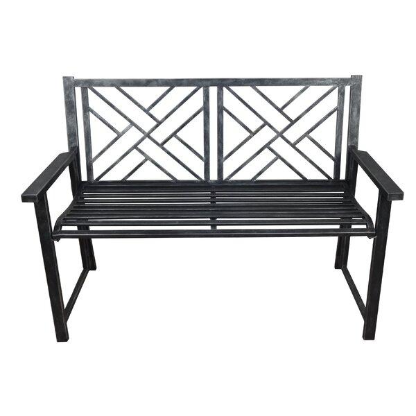 Breakwater Bay Shearman Folding Metal Patio Garden Bench U0026 Reviews | Wayfair