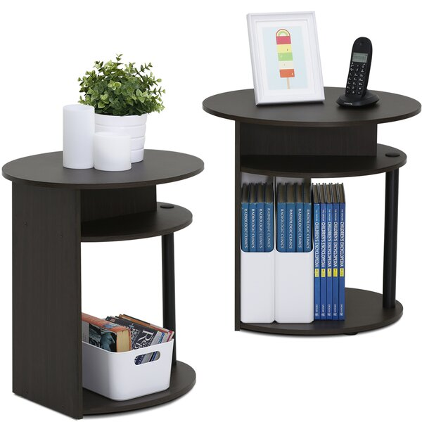 furinno jaya oval 2 piece end table set & reviews | wayfair