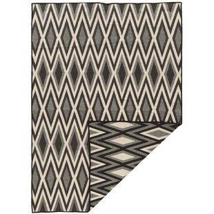 Compare prices Brooking Gray/Black Area Rug By Foundry Select