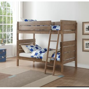 Price comparison Finkle Twin Over Twin Bunk Bed by Mistana Reviews (2019) & Buyer's Guide