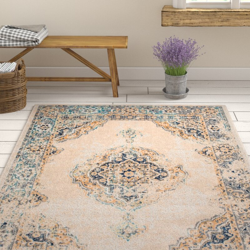 Ophelia Co Aquila Traditional Creamblue Area Rug Reviews Wayfair