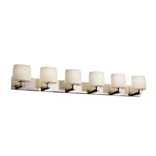 Bismark Oval Shade 6-Light Vanity Light By World Menagerie