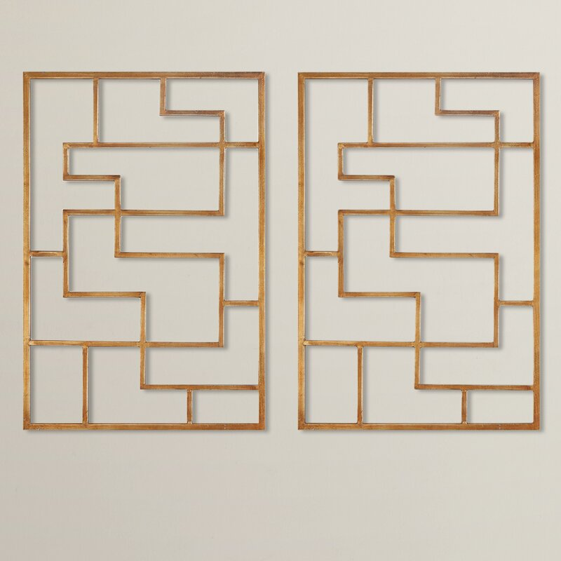 Sunpan Modern Quaid Gold Framed Wall Art & Reviews | Wayfair