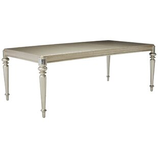Alys Extendable Solid Wood Dining Table House of Hampton