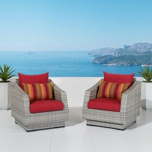 Castelli Patio Chair with Sunbrella Cushions (Set of 2)