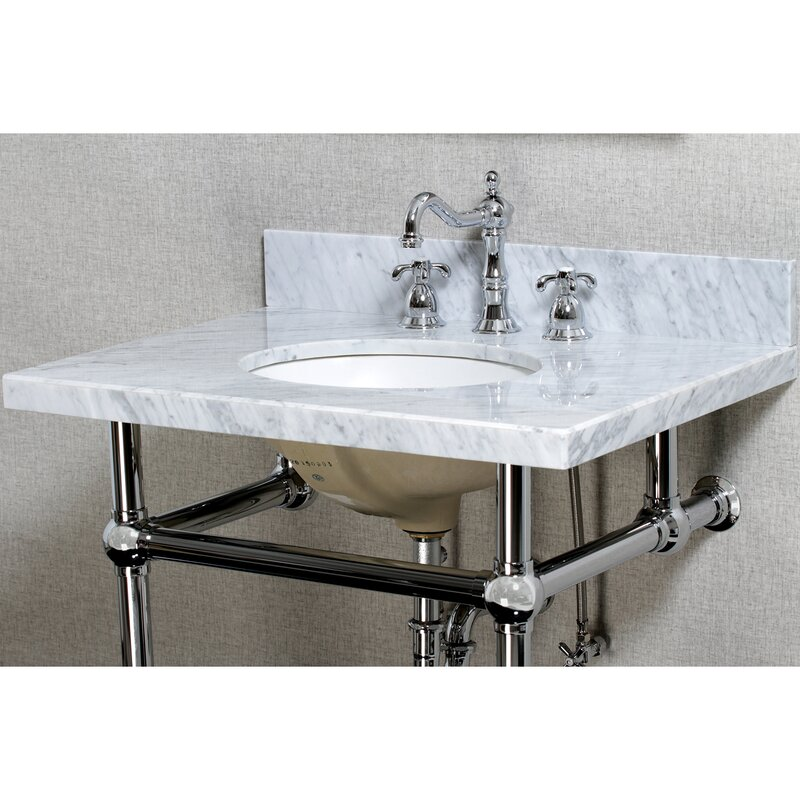 """Templeton 30"""" Console Bathroom Sink with Overflow"""