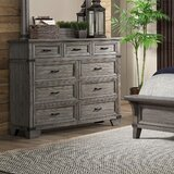 Mccollom 9 Drawer Double Dresser with Mirror by Loon Peak®