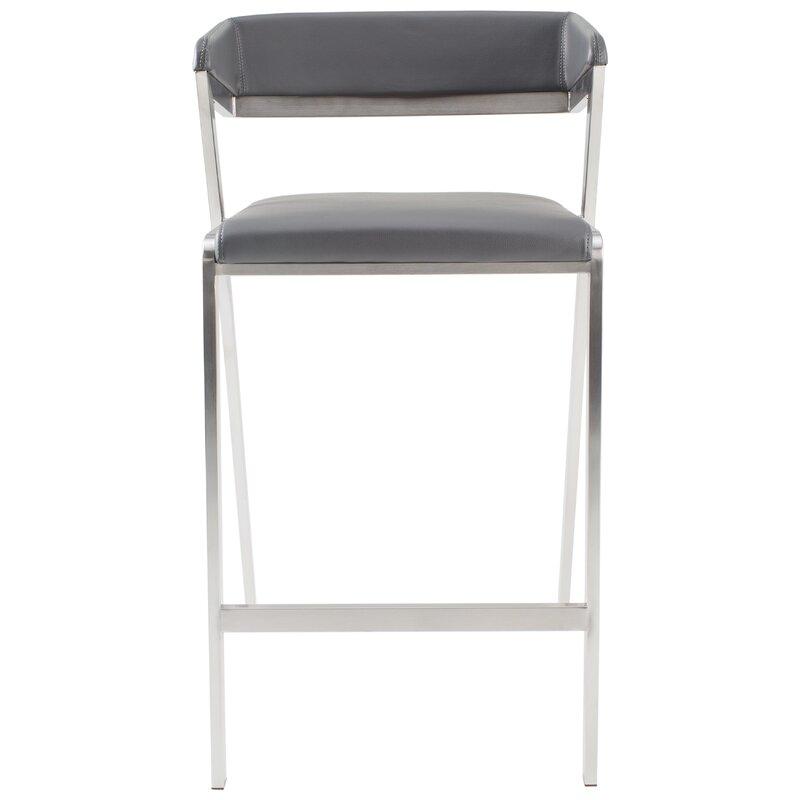 Admirable Deschamps Low Back 27 Bar Stool Machost Co Dining Chair Design Ideas Machostcouk